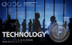 Médias en ligne Conpt de mise en réseau de connexion de technologie Images stock