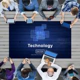 Médias en ligne Conpt de mise en réseau de connexion de technologie Photographie stock libre de droits
