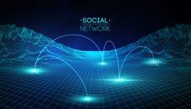 Médias sociaux de réseau globaux Illustration isométrique de communication de personnes et de Web du partage d'informations 3d In illustration stock