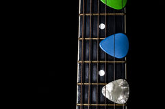 Médiateurs de guitare Photos libres de droits