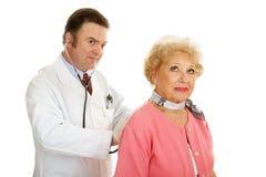 Médical aîné - écoutant Photo libre de droits