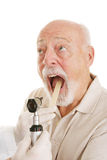 Médical aîné - dites Ahhh Images stock
