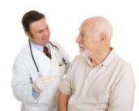 Médical aîné - normale de la température Photo stock