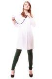 médical Docteur de femme dans le manteau de laboratoire avec le stéthoscope photographie stock
