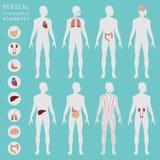 Médical et soins de santé infographic, éléments pour créer l'infogr illustration stock