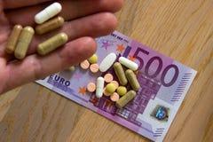 Médicament à disposition Image stock