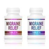 Médicament de migraine. Image stock