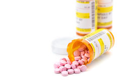 Médicament de prescription dans des fioles de pilule de pharmacie photographie stock