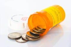 Médicaments délivrés sur ordonnance chers. Photo libre de droits