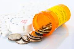 Médicaments délivrés sur ordonnance chers. Photographie stock libre de droits