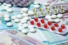 médicaments des prix images libres de droits