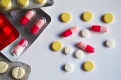 Médicaments, pilules, médecine, thème, texture Image libre de droits