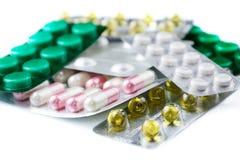 Médicaments sur la table Photographie stock libre de droits