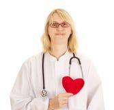 Médico con el corazón Imagen de archivo libre de regalías