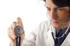 Médico con el estetoscopio Fotografía de archivo libre de regalías