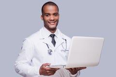 Médico confidente Imagen de archivo libre de regalías