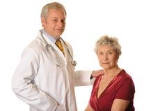 Médico de hospital con el paciente Fotografía de archivo