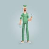 Médico de sorriso do doutor dos homens da ilustração Foto de Stock Royalty Free
