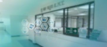 médico do conceito da rede da tecnologia do doutor da medicina do coração da medicina Imagem de Stock