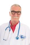 Médico en el fondo blanco Fotografía de archivo libre de regalías