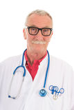Médico no fundo branco Fotografia de Stock Royalty Free
