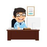 Médico principal en su escritorio Imagen de archivo