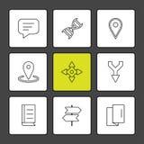médico, saúde, navegação, conversação, ícones do eps ajuste o vec ilustração do vetor