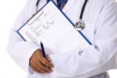Médico y resultados Fotografía de archivo libre de regalías