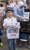 Médicos sob o fogo Reunião em Trafalgar Square fotos de stock royalty free