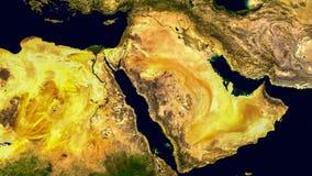 Médio Oriente, Ásia ocidental, Israel e Irã como olha como do espaço Os elementos desta imagem são fornecidos pela NASA foto de stock royalty free