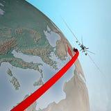Médio Oriente como visto do espaço, zangão Fotos de Stock