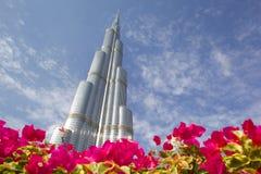 Médio Oriente, Emiratos Árabes Unidos, Dubai, o Burj Khalifa, a construção a mais alta dos mundos imagem de stock