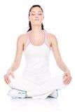 Méditation après exercice Photographie stock libre de droits