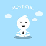 Méditation conceptuelle Ca de pratique en matière d'homme d'affaires de caractère abstrait illustration stock