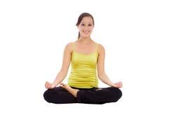 Méditation de femme de yoga images libres de droits