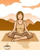Méditation de lever de soleil Photographie stock