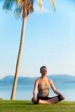Méditation de lever de soleil Photo stock