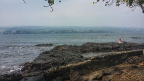 Méditation de littoral Image stock