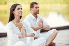 Méditation de matin Images stock