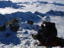Méditation de montagne Photographie stock libre de droits