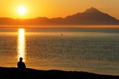 Méditation de plage Image libre de droits