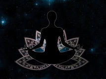 Méditation de posture de yoga Images stock