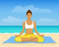 Méditation de yoga Image libre de droits