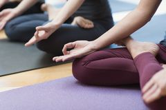 Méditation de yoga et de mindfulness images stock