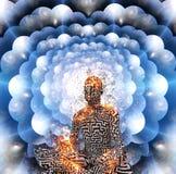méditation Les espaces posés multi illustration stock