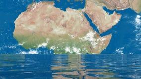 Méditation pour la terre - 3D rendent banque de vidéos