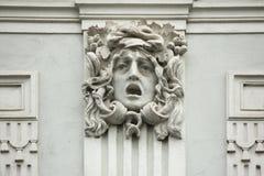 Méduse Gorgon Mascaron sur le bâtiment d'Art Nouveau Photo stock