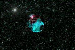 Méduses de planète - couleurs : bleu noir, pourpre et azuré photographie stock