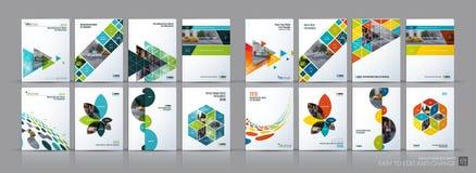 Méga de vecteur d'affaires réglé Disposition de calibre de brochure, conception de couverture illustration libre de droits