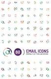Méga réglé des logos d'email Image stock